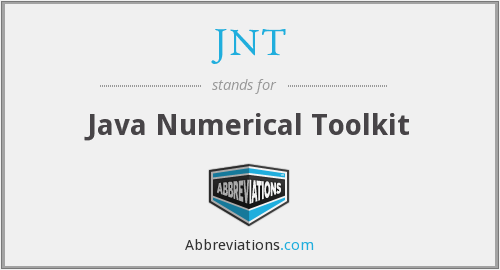 JNT - Java Numerical Toolkit