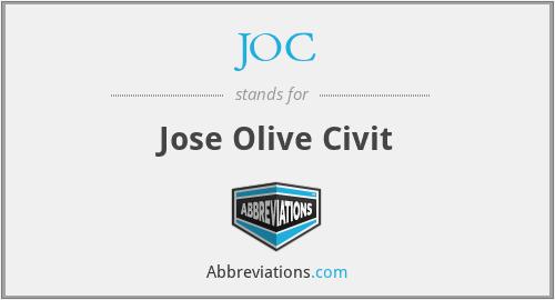JOC - Jose Olive Civit