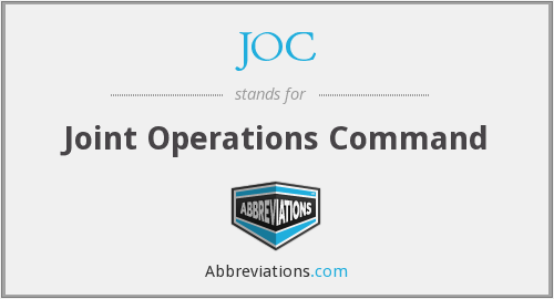JOC - Joint Operations Command