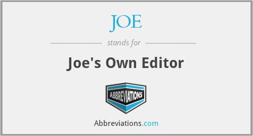 JOE - Joe's Own Editor