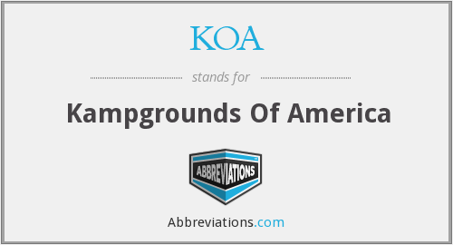 KOA - Kampgrounds Of America