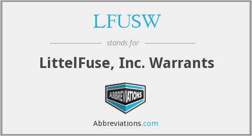 What does LFUSW stand for?