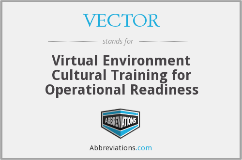 VECTOR - Virtual Environment Cultural Training for Operational Readiness
