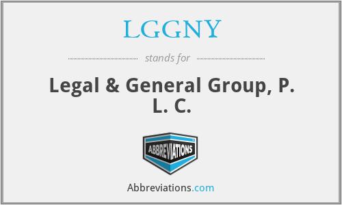 LGGNY - Legal & General Group, P. L. C.