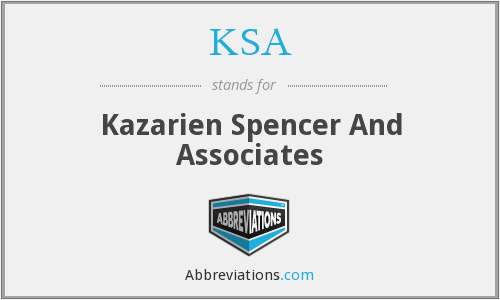 KSA - Kazarien Spencer And Associates