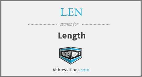 What does length stand for?