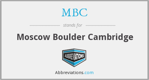 MBC - Moscow Boulder Cambridge