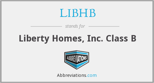 LIBHB - Liberty Homes, Inc. Class B