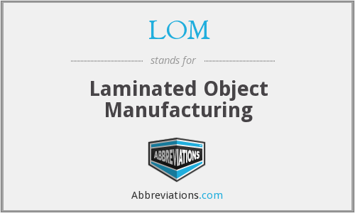 LOM - Laminated Object Manufacturing