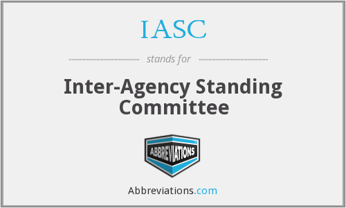 IASC - Inter-Agency Standing Committee