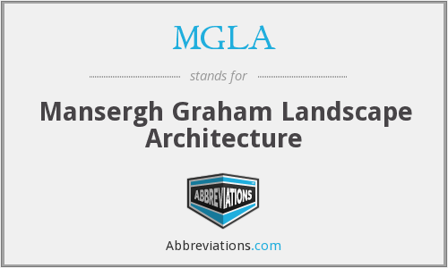 MGLA - Mansergh Graham Landscape Architecture