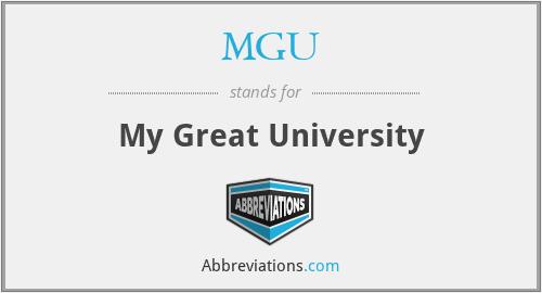 MGU - My Great University