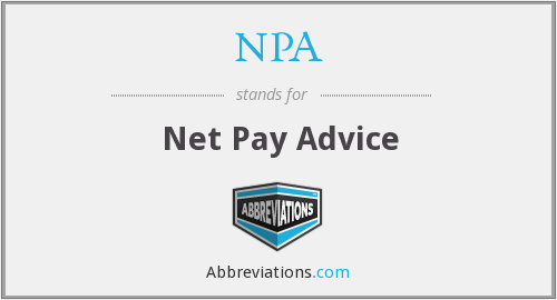 NPA - Net Pay Advice