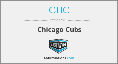 CHC - Chicago Cubs