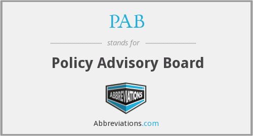 PAB - Policy Advisory Board