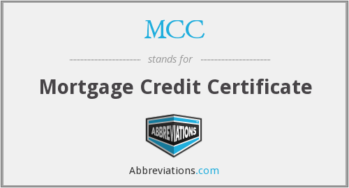 MCC - Mortgage Credit Certificate