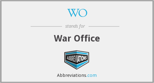WO - War Office