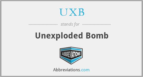 UXB - Unexploded Bomb