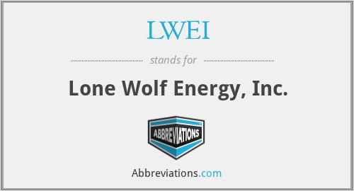 LWEI - Lone Wolf Energy, Inc.