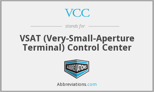 VCC - VSAT (Very-Small-Aperture Terminal) Control Center