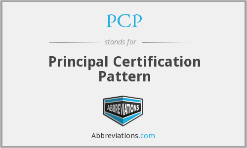 PCP - Principal Certification Pattern