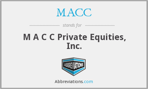 What does MACC stand for?