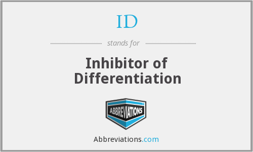 ID - Inhibitor of Differentiation