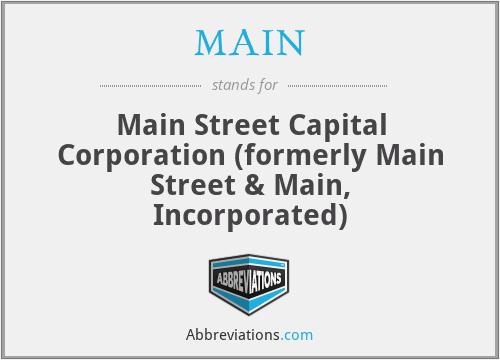 MAIN - Main Street & Main, Inc.