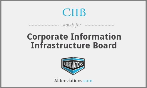 CIIB - Corporate Information Infrastructure Board