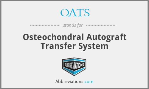 OATS - Osteochondral Autograft Transfer System