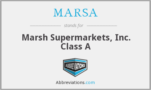 What does MARSA stand for?