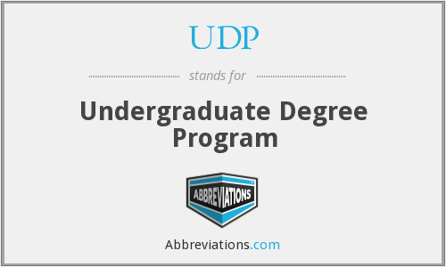 UDP - Undergraduate Degree Program