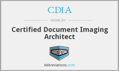 CDIA - Certified Document Imaging Architect