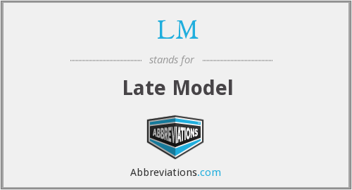 LM - Late Model