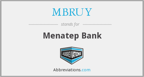 What does MBRUY stand for?