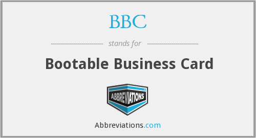 BBC - Bootable Business Card