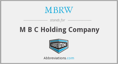What does MBRW stand for?