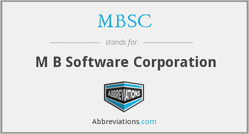 MBSC - M B Software Corporation
