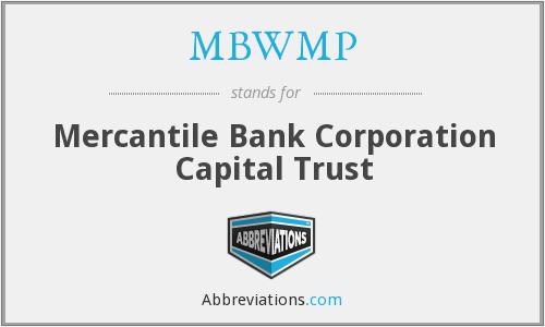 MBWMP - Mercantile Bank Corporation Capital Trust
