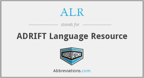 ALR - ADRIFT Language Resource