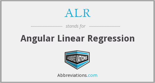 ALR - Angular Linear Regression
