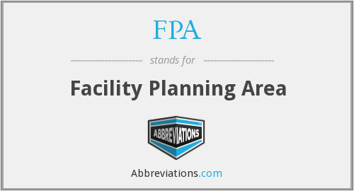 FPA - Facility Planning Area