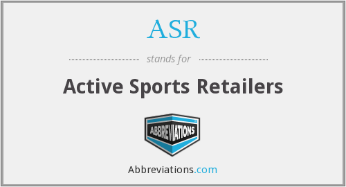 ASR - Active Sports Retailers