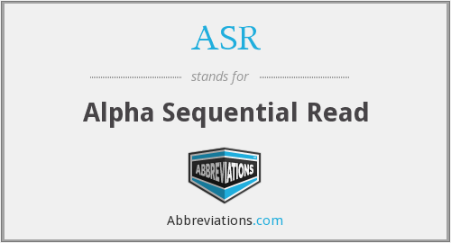 ASR - Alpha Sequential Read