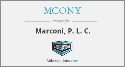 MCONY - Marconi, P. L. C.
