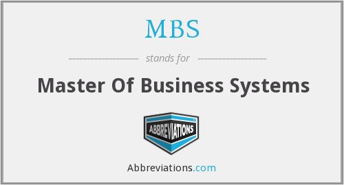 MBS - Master Of Business Systems