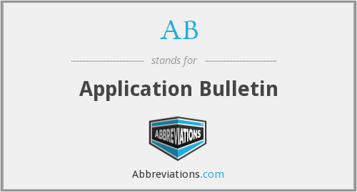 AB - Application Bulletin