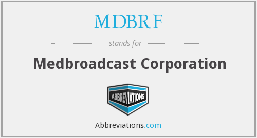 What does MDBRF stand for?