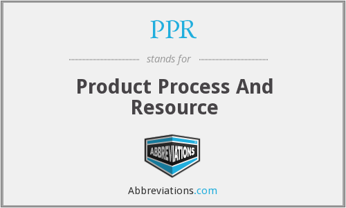 PPR - Product Process And Resource