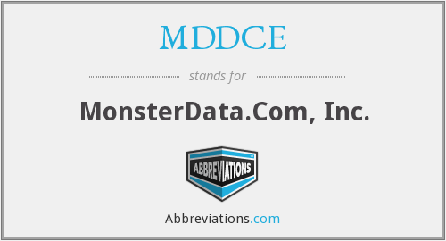 What does MDDCE stand for?